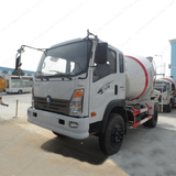 China SINOTRUK CDW 6 Wheeler Hydromix Concrete Transit Mixer Left Hand Drive Ready Mix Lorry