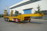 low bed semi-trailer for machinery transport
