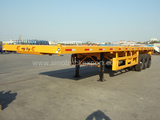3 BPW Axles 40 Foot 5th Wheel  Flatbed Trailer with Air Bag Suspension