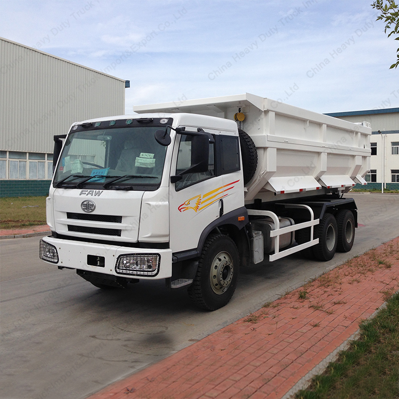 CA3250 FAW J5M Driving on the Left Dirt Tipper Truck with 241HP Weichai Diesel Engine