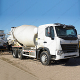 Chinese Truck Brands CNHTC SINOTRUK HOWO A7 8910 Cubic Meters Cement Mixer Lorry